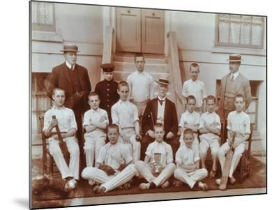 Cricket Team at the Boys Home Industrial School, London, 1900--Mounted Photographic Print