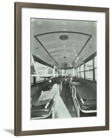Interior of Coach Type Ambulance, Western Ambulance Station, Fulham, 1935--Framed Photographic Print