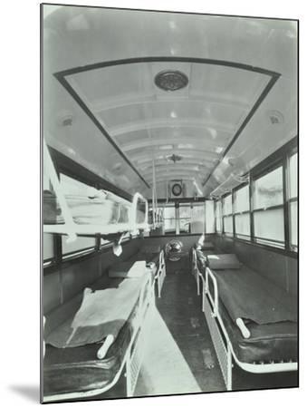 Interior of Coach Type Ambulance, Western Ambulance Station, Fulham, 1935--Mounted Photographic Print