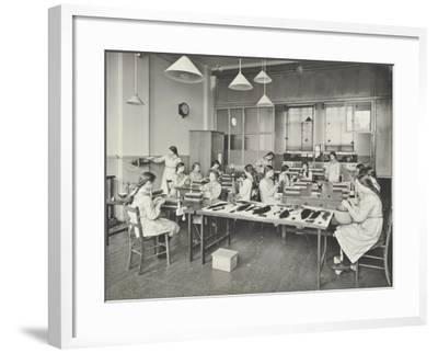 Hair Dressing Class, Barrett Street Trade School for Girls, London, 1915--Framed Photographic Print