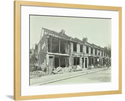 Bombed Houses, Trigo Road, Poplar, London, Wwii, 1943--Framed Photographic Print