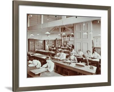 Book Illustration Class, Camberwell School of Arts and Crafts, Southwark, London, 1907--Framed Photographic Print