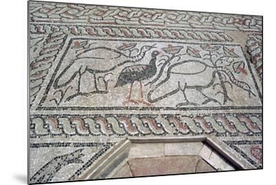 Mosaic, Ruins of the Roman Town of Stobi, Gradsko, Macedonia-Vivienne Sharp-Mounted Photographic Print