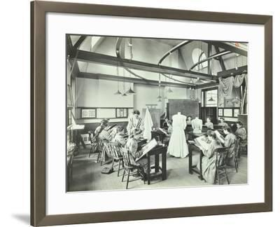 Ready Made Clothing Class, Shoreditch Technical Institute, London, 1907--Framed Photographic Print