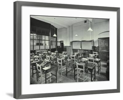 Typewriting Room, Balham and Tooting Commercial Institute, London, 1931--Framed Photographic Print