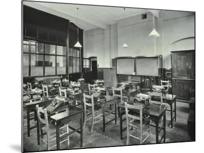 Typewriting Room, Balham and Tooting Commercial Institute, London, 1931--Mounted Photographic Print