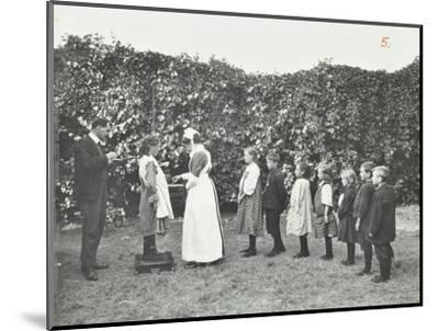 Children Being Weighed in the Garden, Montpelier House Open Air School, London, 1908--Mounted Photographic Print