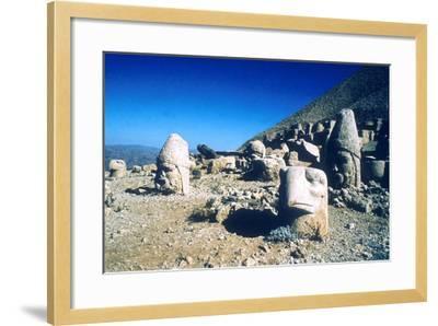 Ancient Stone Heads, Mount Nemrut, Adiyaman, Turkey-Vivienne Sharp-Framed Photographic Print