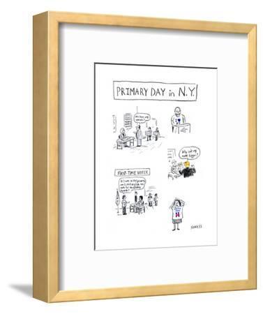 Primary Day in N.Y. - Cartoon-David Sipress-Framed Premium Giclee Print