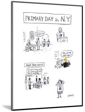 Primary Day in N.Y. - Cartoon-David Sipress-Mounted Premium Giclee Print