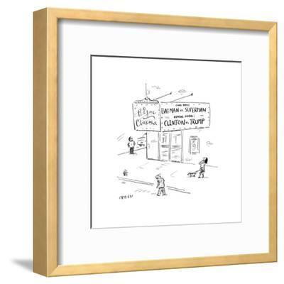 Batman vs SupermanClinton vs Trump - Cartoon-David Sipress-Framed Premium Giclee Print