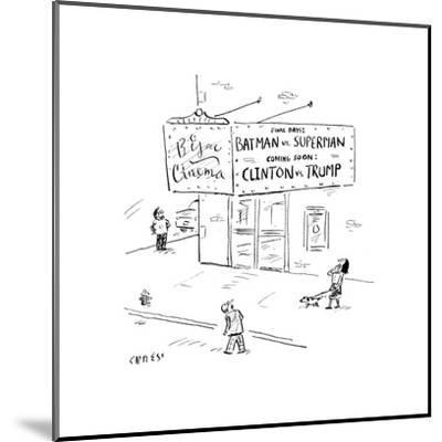 Batman vs SupermanClinton vs Trump - Cartoon-David Sipress-Mounted Premium Giclee Print