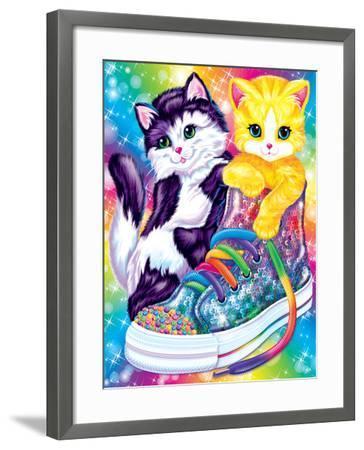 Kitten Sneakers-Lisa Frank-Framed Art Print