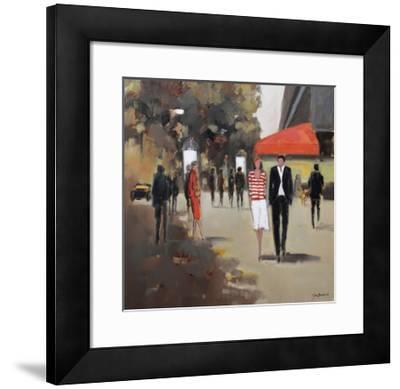 Caf» De La Paix - Paris-Jon Barker-Framed Giclee Print