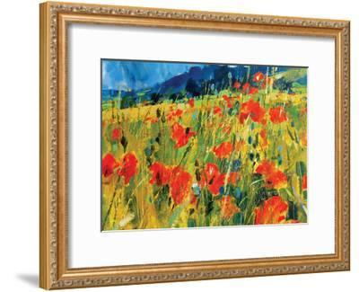South Downs Poppies-Chris Forsey-Framed Giclee Print