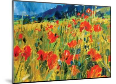 South Downs Poppies-Chris Forsey-Mounted Giclee Print