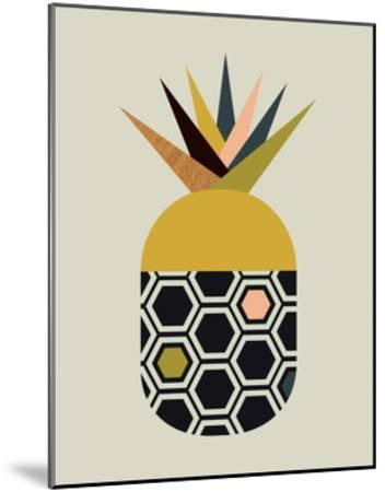 Pineapple-Little Design Haus-Mounted Giclee Print