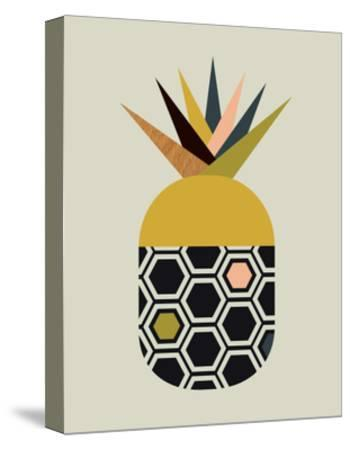 Pineapple-Little Design Haus-Stretched Canvas Print
