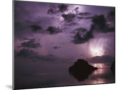 Lightning and Thunderstorm Over Sulu-Sulawesi Seas, Indo-Pacific Ocean-Jurgen Freund-Mounted Photographic Print