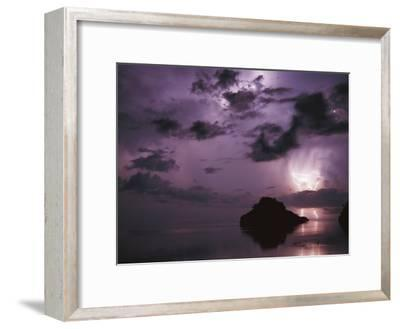 Lightning and Thunderstorm Over Sulu-Sulawesi Seas, Indo-Pacific Ocean-Jurgen Freund-Framed Photographic Print