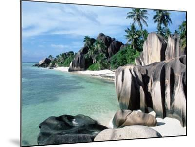 Rocky Coast and Beach, La Digue, Anse Source D'Argent, Seychelles-Reinhard-Mounted Photographic Print