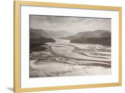 Mawddach Estuary at Low Tide, Barmouth, Snowdonia National Park, Gwynedd, Wales, May 2012-Peter Cairns-Framed Photographic Print