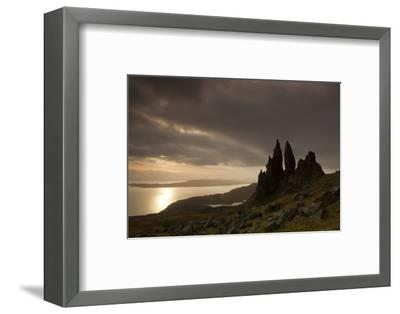 Old Man of Storr at Dawn, Skye, Inner Hebrides, Scotland, UK, January 2011-Peter Cairns-Framed Photographic Print