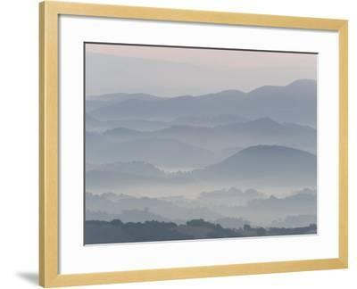 The Andalucian Campagna Near Montellano at Dawn, Andulacia, Spain, Febraury 2008-Niall Benvie-Framed Photographic Print