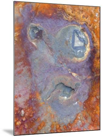 Imagined Face in Slate, Easdale, Scotland, UK-Niall Benvie-Mounted Photographic Print