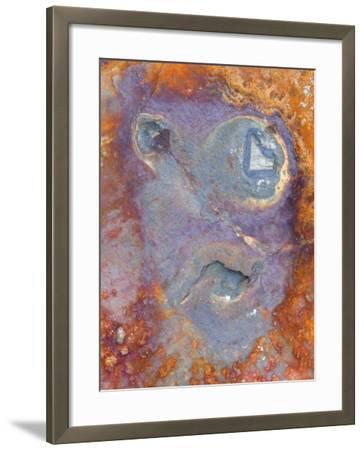 Imagined Face in Slate, Easdale, Scotland, UK-Niall Benvie-Framed Photographic Print