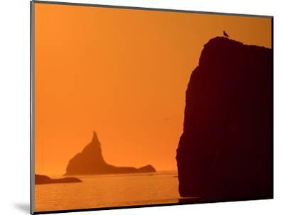 Icebergs Silhouetted at Sunset, Disko Bay, Greenland, August 2009-Jensen-Mounted Photographic Print