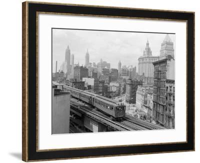 Third Avenue EL, New York, New York-John Lindsay-Framed Photographic Print