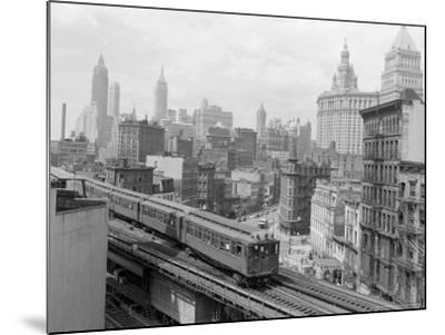 Third Avenue EL, New York, New York-John Lindsay-Mounted Photographic Print