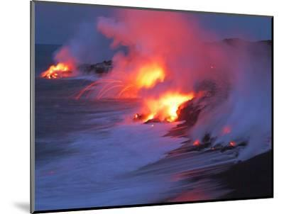 Lava from the Kilauea Volcano--Mounted Photographic Print