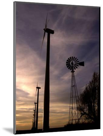 A Row of Wind Turbines-Charlie Riedel-Mounted Photographic Print