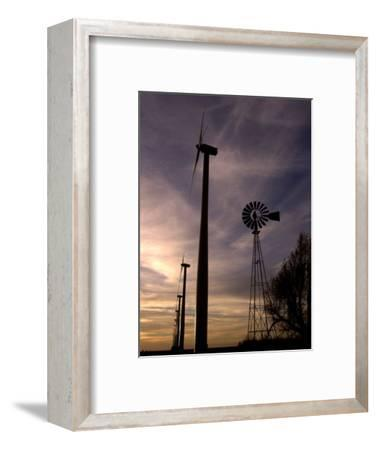 A Row of Wind Turbines-Charlie Riedel-Framed Photographic Print