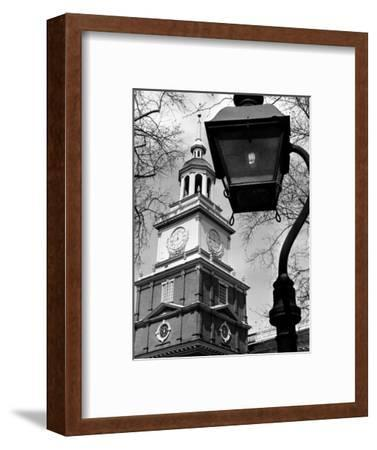 This View Shows Independence Hall--Framed Photographic Print