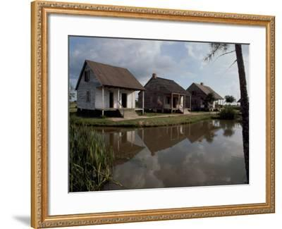 Houses in the Bayou Country of Louisiana--Framed Photographic Print