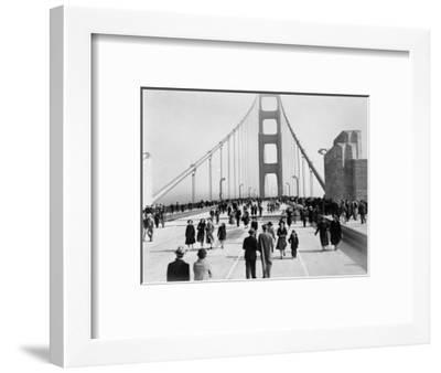 Golden Gate Opening, San Francisco, California, c.1937--Framed Photographic Print