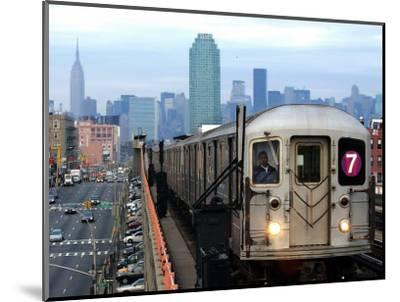 The Number 7 Train Runs Through the Queens Borough of New York--Mounted Photographic Print