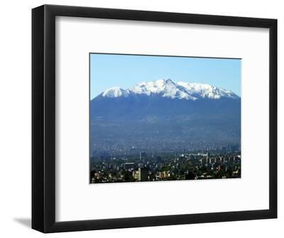 The Ajusco Mountain is Seen Behind Mexico City--Framed Photographic Print