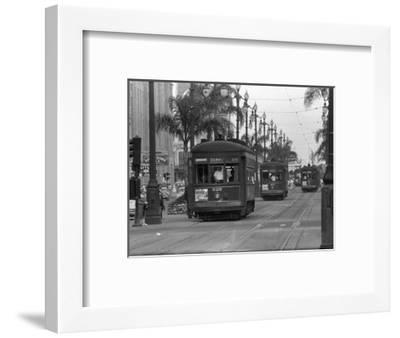 Canal Street Trolleys--Framed Photographic Print