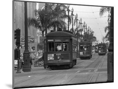 Canal Street Trolleys--Mounted Photographic Print