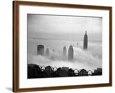 The Manhattan Skyline from the 69th Floor of the RCA Building--Framed Photographic Print