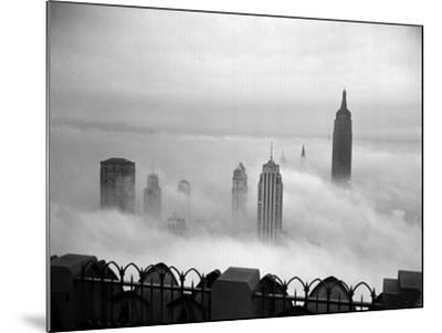 The Manhattan Skyline from the 69th Floor of the RCA Building--Mounted Photographic Print
