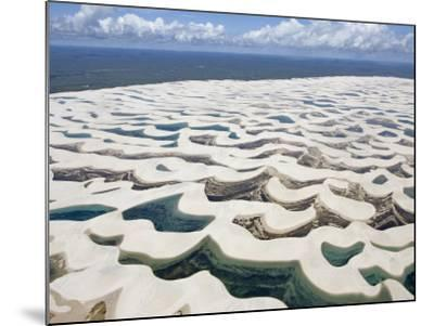 Aerial View of the Sand Dunes at the Lencois Maranhenses National Park, Brazil--Mounted Photographic Print