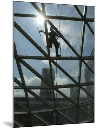 Roof Cleaning, Warsaw, Poland--Mounted Photographic Print