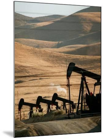Oil Pumps Work the Midway Sunset Oil Field West of Taft, Calif.--Mounted Photographic Print