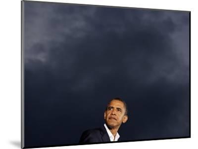 VP Candidate Senator Joe Biden Introduces Presidential Candidate Senator Barack Obama at a Rally--Mounted Photographic Print