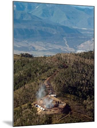 Smoke Rises from a Drilling Rig on the Roan Plateau-Peter M. Fredin-Mounted Photographic Print
